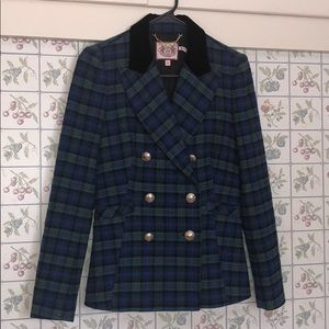 NWOT Juicy Couture Pea Coat 😍 (flannel patterned)